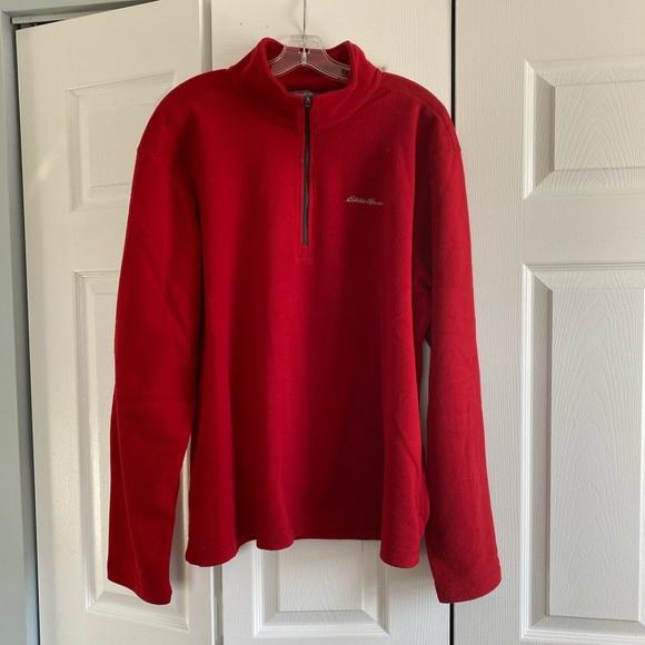 Men's Eddie Bauer Fleece 1/4 Zip pullover.